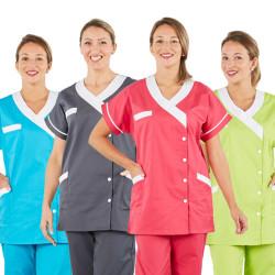 Tunique médicale bicolore à manches courtes - TANA PBV