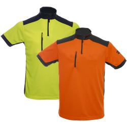 T-shirt de travail anti-UV manches courtes tissu Coolmax Solidur