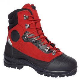 Chaussures Solidur Infinity anti coupure classe 3 rouge