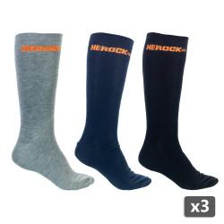 3 x Paire de chaussettes de travail HEROCK DONNA