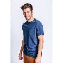 Tee shirt de travail coton biologique bleu marine DUNAS Forest Workwear
