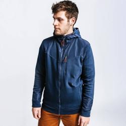 Veste de travail bleue à capuche en coton bio CANOA Forest Workwear