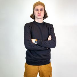 Sweat shirt de travail noir 100% coton biologique BONOBO Forest Workwear