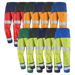 Pantalon haute visibilité classe 2 avec poches genoux FLUO SAFE XP Cepovett