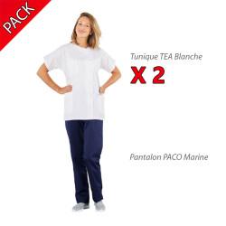 Pack tenue médicale pour femme PBV