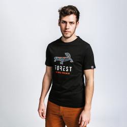 T-shirt de travail coton bio SANGATTE Forest Workwear noir