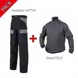 Pack Pantalon 1ATTUP LAFONT et Sweat FELIX DASSY