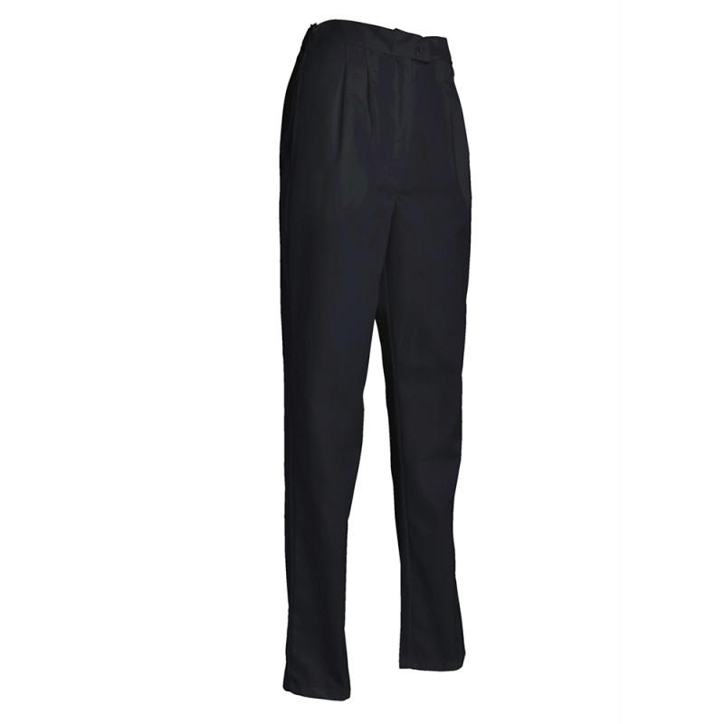Pantalon de cuisine noir pour Femme - SNV GISELE