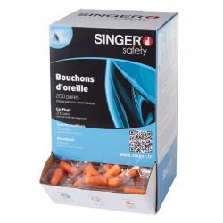 Bouchons anti-bruit - Boite de 200 paires - SINGER SAFETY HGB030