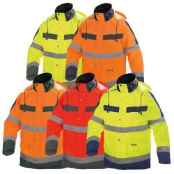 Parka de travail imperméable haute-visibilité - DASSY ATLANTIS - Classe 2 et 3