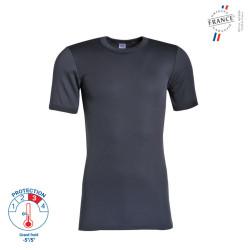 Tee shirt thermique manches courtes Gris - 57683451 LEMAHIEU PBV
