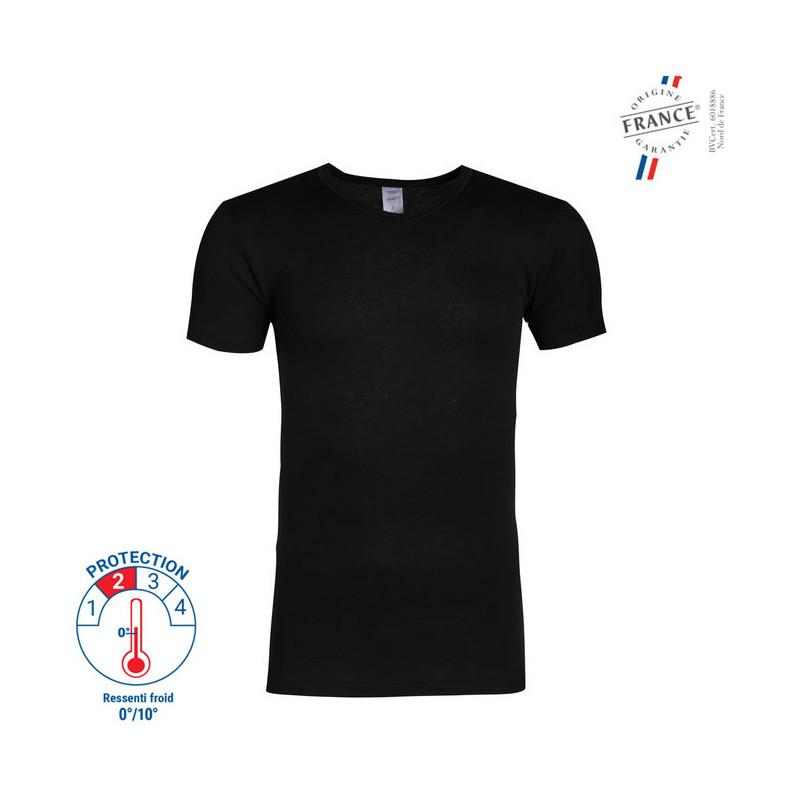 T-shirt Manches Courtes Thermorégulant Noir - 53337900 LEMAHIEU PBV