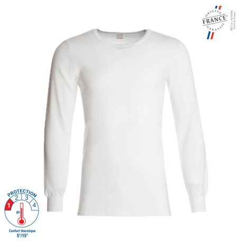 Tee shirt Thermique manches longues 100% Coton -  00673001 LEMAHIEU PBV