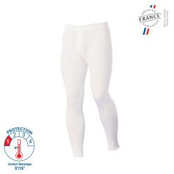 Caleçon long de travail Blanc 100% Coton - 00483001 LEMAHIEU PBV