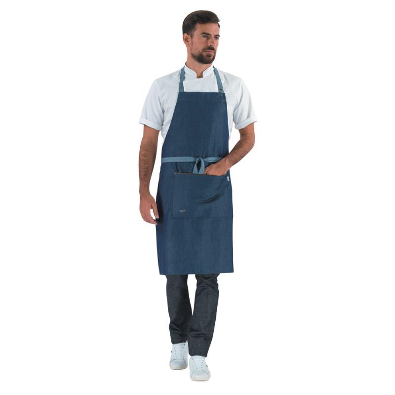 Tablier de Cuisine bavette en jean - VESALE LAFONT