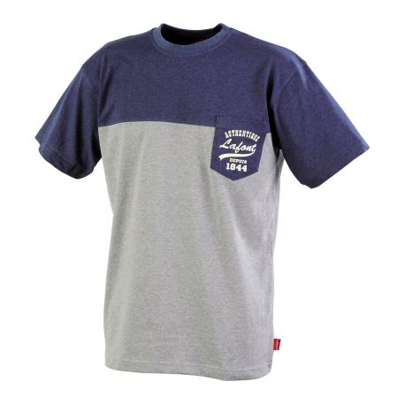 Tee-shirt de travail Bleu chiné/Gris chiné LAFONT CSTONE2