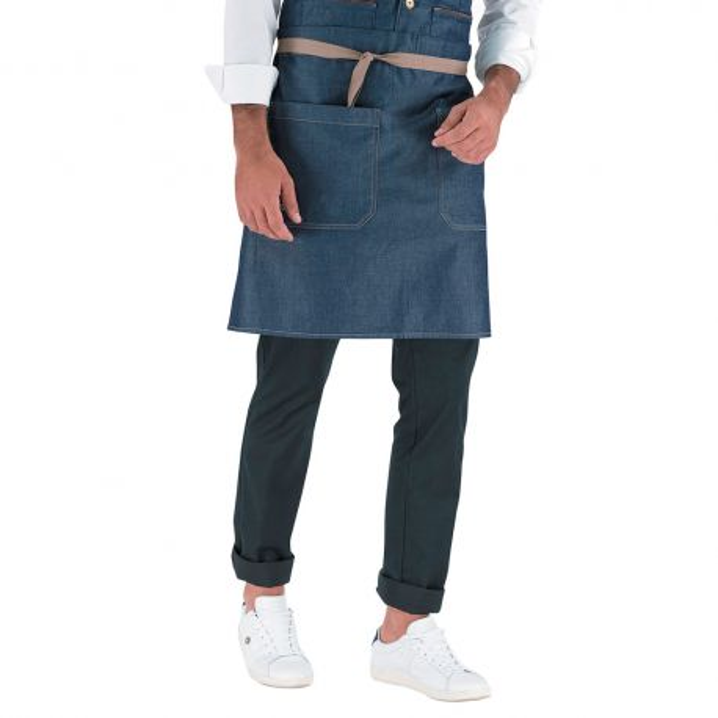 Tablier court en jean pour serveur - ARRAS LAFONT