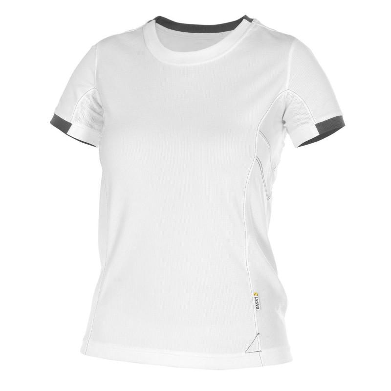T-shirt professionnel Femme Blanc - NEXUS DASSY WOMEN