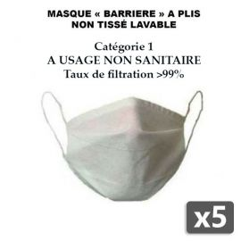 5 x Masque Alternatif Lavable - MLNT PBV