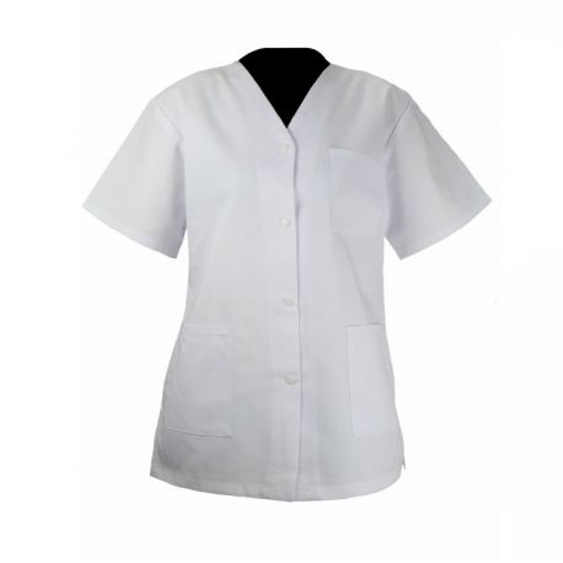 Tunique médicale blanche manches courtes - PBV 03BM250