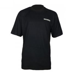 T-shirt de travail noir pour agent de sécurité - PBV 21SECU