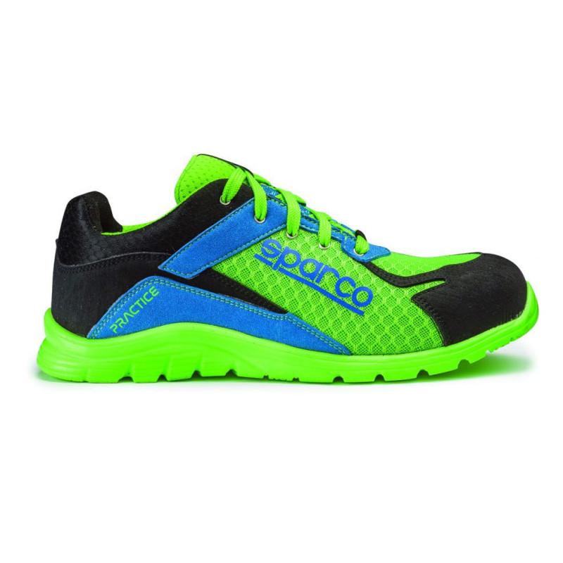 Basket de sécurité verte et bleue SPARCO S1P SRC - PRACTICE 07517