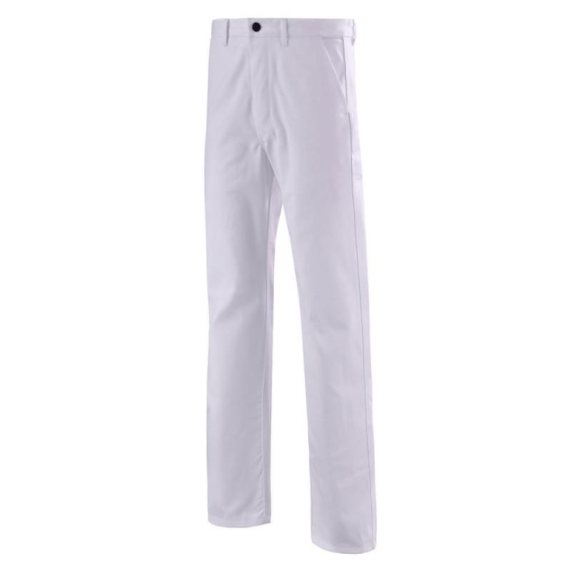 Pantalon de travail blanc 100% coton - CEPOVETT ESSENTIELS