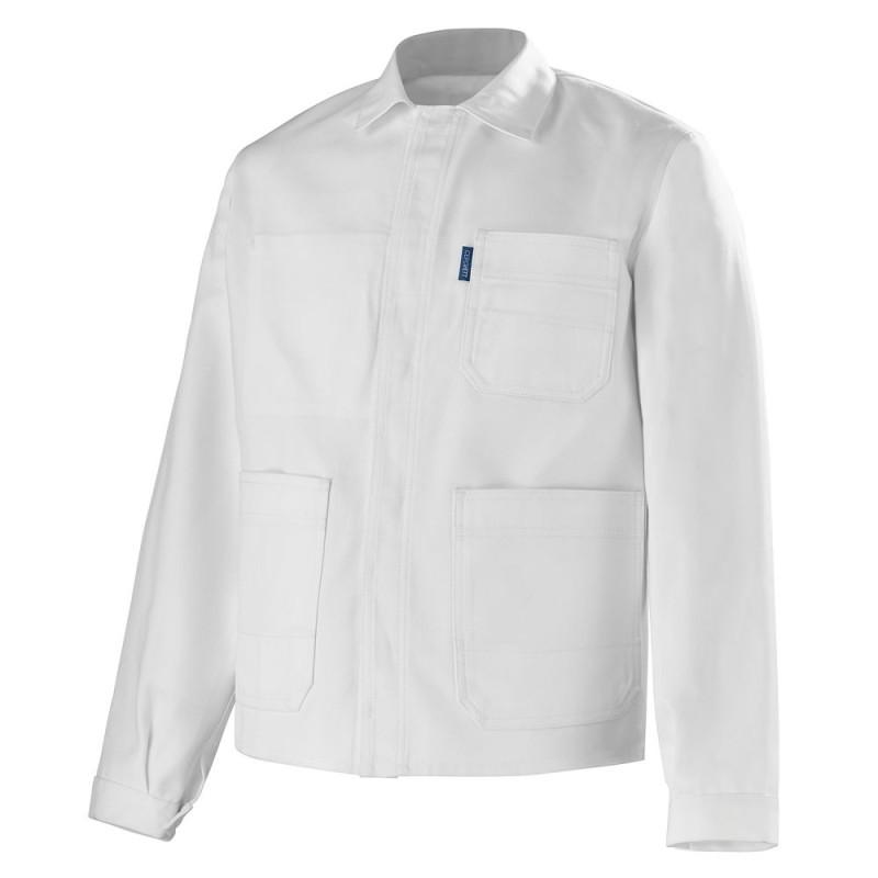 Veste de travail blanche en coton - CEPOVETT ESSENTIELS