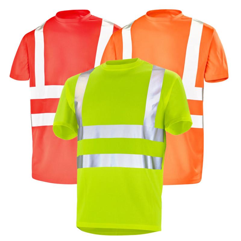 Tee shirt haute visibilité manches courtes - CEPOVETT FLUO BASE 2