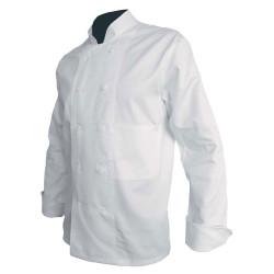 Veste cuisinier blanche 100% coton PBV 16AB110