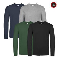 Tee shirt de travail manches longues 100% coton