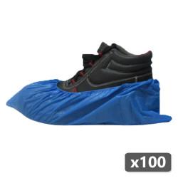 100 x Sur-chaussures de propreté jetables bleues