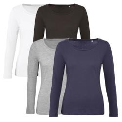 Tee shirt de travail femme en coton biologique