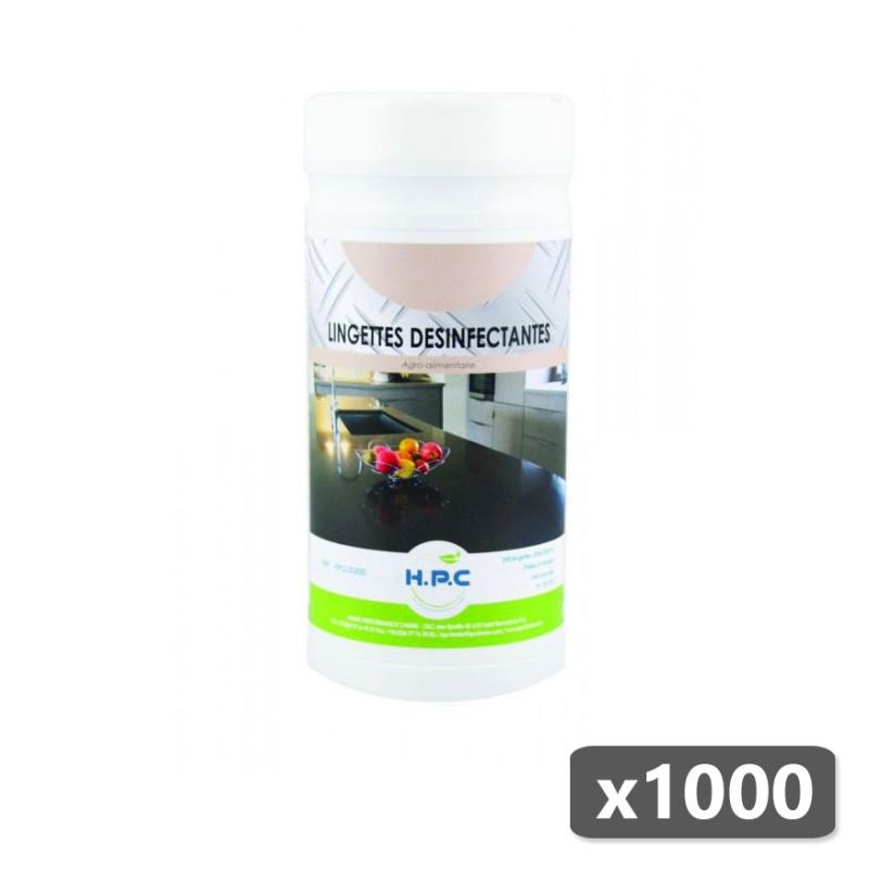 Lingettes désinfectantes alimentaires - Seau de 1000 - HP Chimie