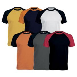 T-shirt de travail bicolore 100% coton