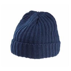 Bonnet bleu marine maille épaisse 100% acrylique