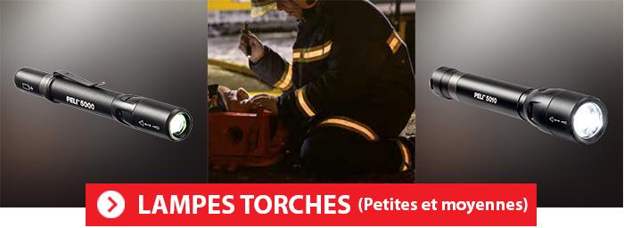 Lampes Torches PELI fines et compactes