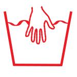 Symbole nettoyage vêtement à la main