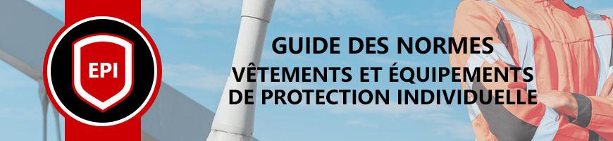 Normes EPI vêtement et accessoires de protection