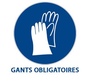 Panneau gants de travail obligatoires