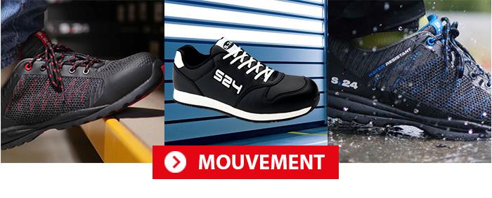 Collection Mouvement Chaussures de sécurité S24