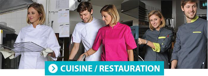Vêtement de cuisine restauration SNV