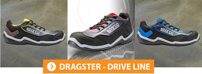 Collection DRAGSTER Chaussures de sécurité Sparco Teamwork