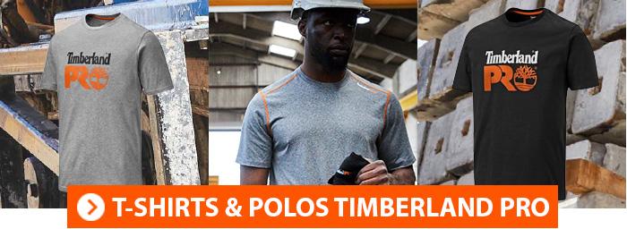 Tee shirt et polo de travail Timberland Pro