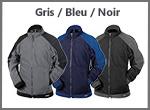 Polaire KAZAN DASSY en gris, bleu ou noir